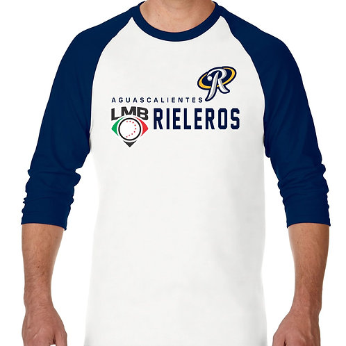 "PLAYERA RANGLAN 3/4"" LMB DISTINCTION RIELEROS DE AGUASCALIENTES"