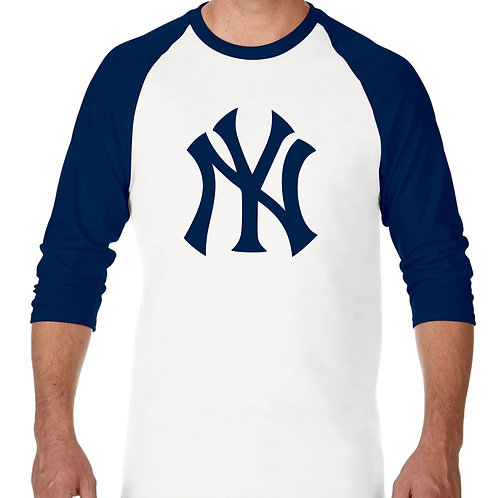 "PLAYERA RANGLAN 3/4"" MLB YANKEES DE NEW YORK BIG LOGO"