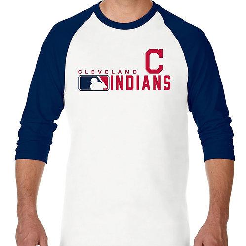 "PLAYERA RANGLAN 3/4"" MLB INDIANS DE CLEVELAND DISTINCTION"