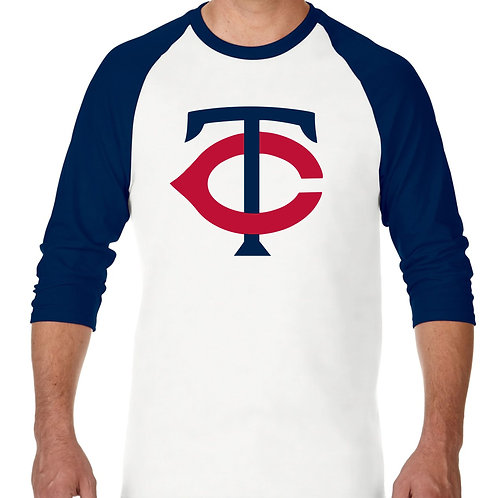 "PLAYERA RANGLAN 3/4"" MLB TWINS DE MINNESOTA BIG LOGO"