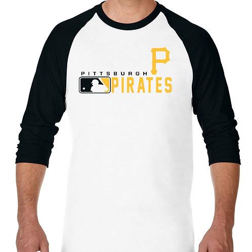 "PLAYERA RANGLAN 3/4"" MLB PIRATES DE PITTSBURGH DISTINCTION"