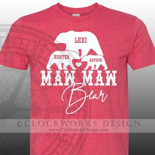 Maw Maw Bear Shirt, Shirt for Women, Funny Shirt