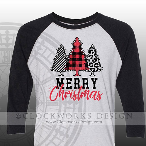 Merry Christmas Buffalo Plaid, Christmas Shirt, Shirt for Women, Shirt for Men, Holiday Tee, Christmas Trees