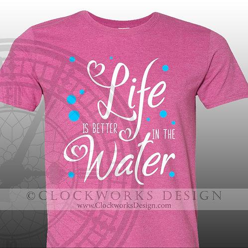 Life is Better at the Lake.shirt,shirts-with-sayings,summer,-lake,beach,fun