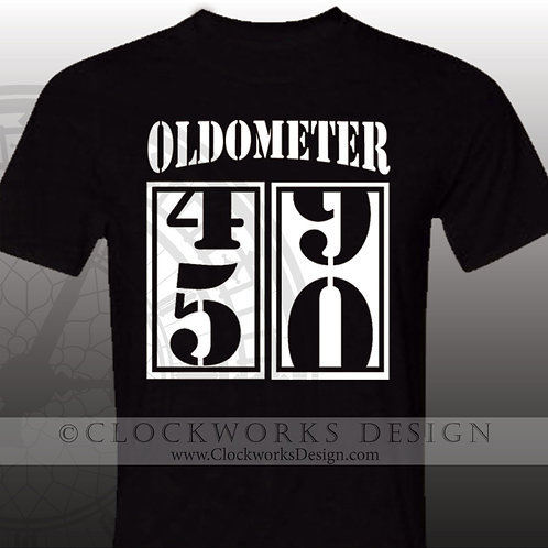 Oldometer personalized shirt,birthday shirts,40,50,60,70,80,90.old.over the hill
