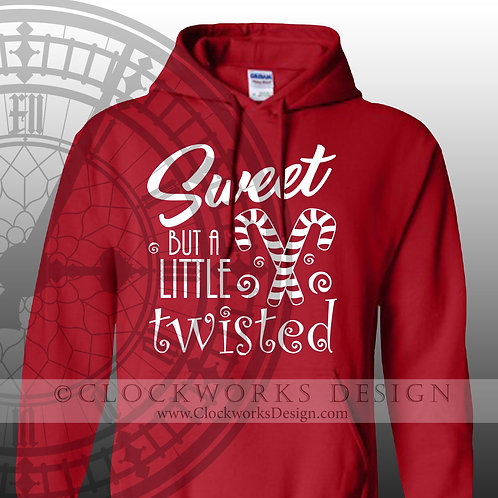 Sweet But A Little Twisted, Christmas Hoodie, Hoodie for Women, Hoodie for Men, Candy Cane Hoodie