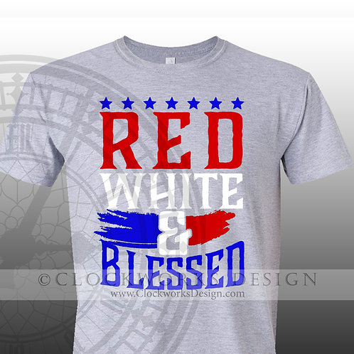 Red White and Blessed,shirt,shirts with sayings,4th of July,Independence Day