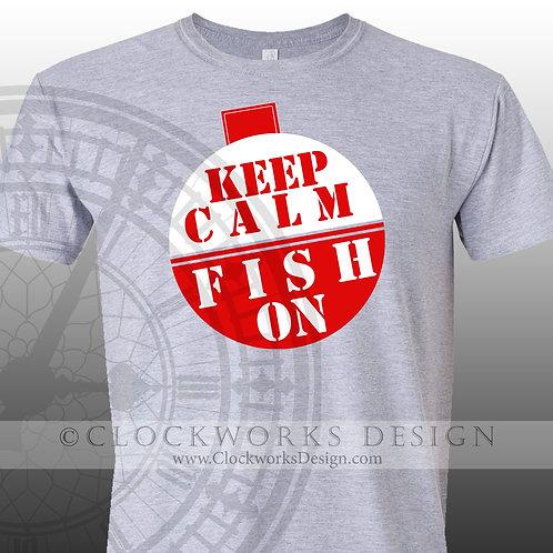 Keep-Calm-and-Fish-On,shirt,shirts-with-sayings,fishing,lake,ocean,beach