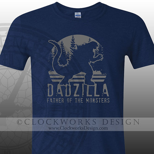 Dadzilla Shirt, Shirt for Men, Shirt for Dad, Father, Funny Shirt