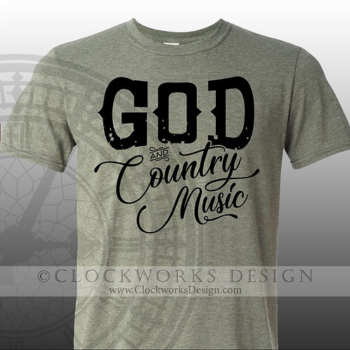 God and Country Music,shirt,shirts-with-sayings,george-strait,country-music
