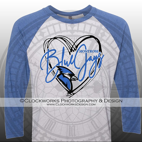 Heart of the Montrose Blue Jays Shirt, School Spirit Shirt, School Spirit