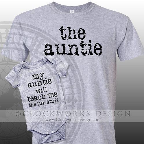 My Auntie Will Teach Me The Fun Stuff Shirt, Shirt for Auntie, Funny Shirt, Auntie