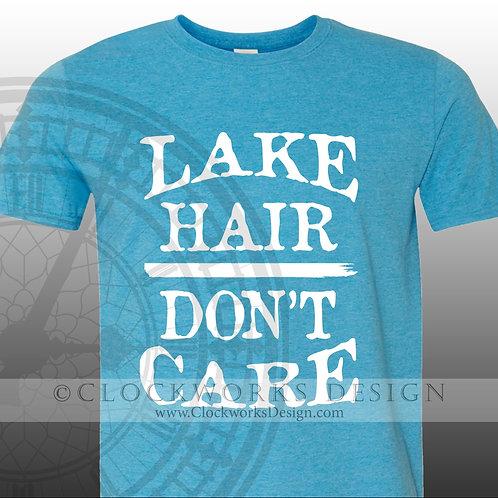 Lake Hair Dont Care,shirt,Shirts-with-Sayings,lake,swimming,vacation,summer-fun,