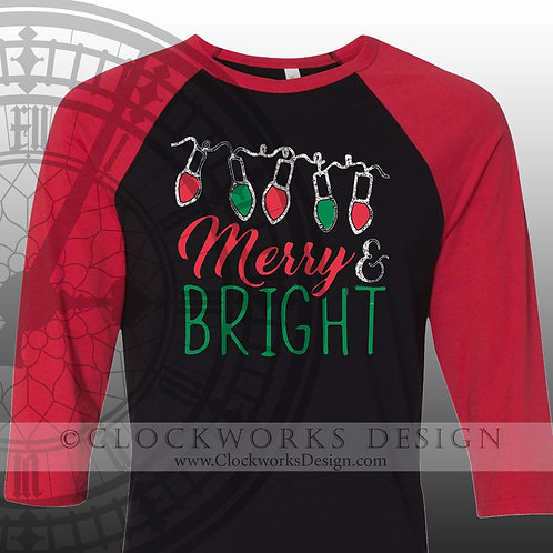 Merry & Bright Shirt, Christmas Shirt, Shirt for Women, Shirt for Men