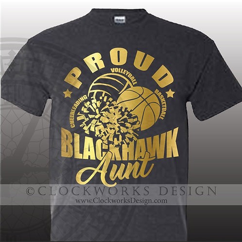 Personalized sports,Adrian Blackhawks Aunt,mom,dad,grandma,grandpa,cheer