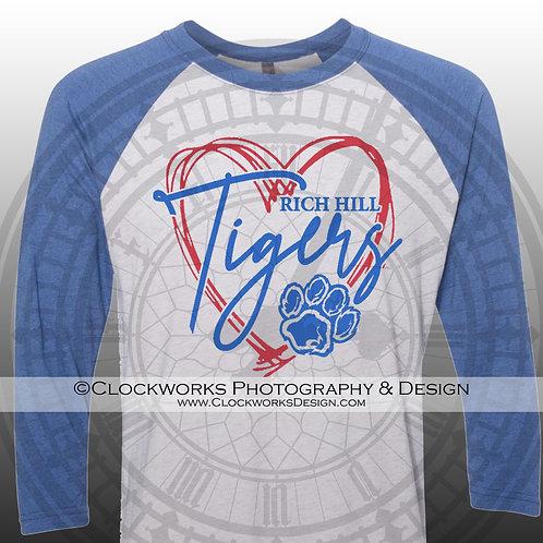 Heart of the Rich Hill Tigers Shirt, School Spirit Shirt, School Spirit