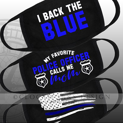 Back the Blue Masks