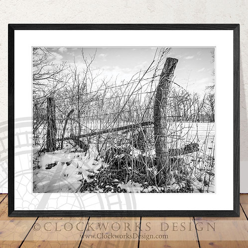 Barbed Wire Skies | Photography print, rustic, western antique, vintage,