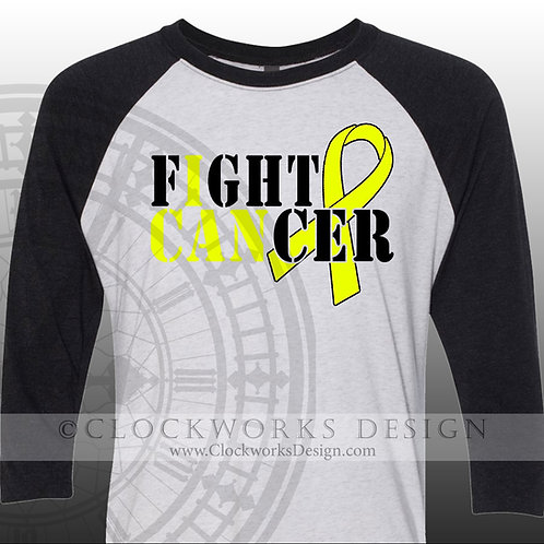 Childhood Cancer Awareness, Bladder cancer,Shirt, I can Fight Cancer,shirts