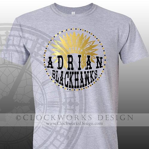 Adrian Blackhawk Headdress, Pride,team spirit,personalizedblack and gold,school