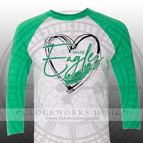 Heart of the Miami Eagles Shirt, School Spirit Shirt, School Spirit
