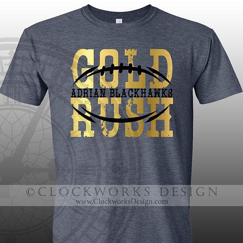 Football Shirt,Gold Rush Blackhawks,personalized team,shirt for her,shirts