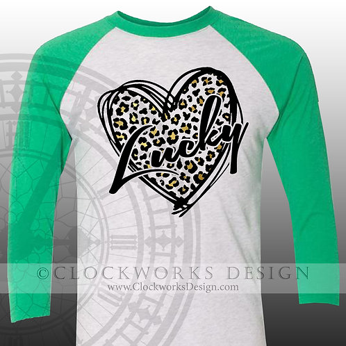 St Patricks Day Shirt,Lucky Leopard Heart, womens, mens shirt,shirt with sayings