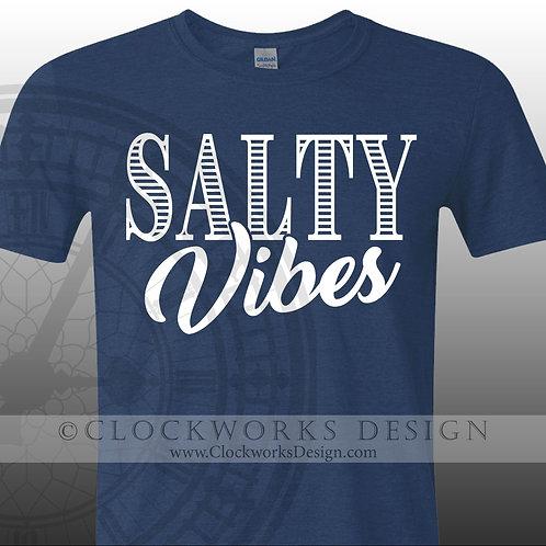 Salty Vibes shirt,shirts-with-sayings,ocean,water,lake,vacation,fun,women,men