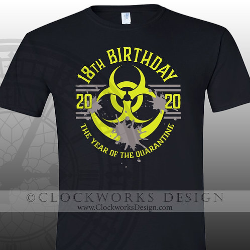 Bio Hazard Personalized Birthday shirt, corona shirts, 2020 quarantine