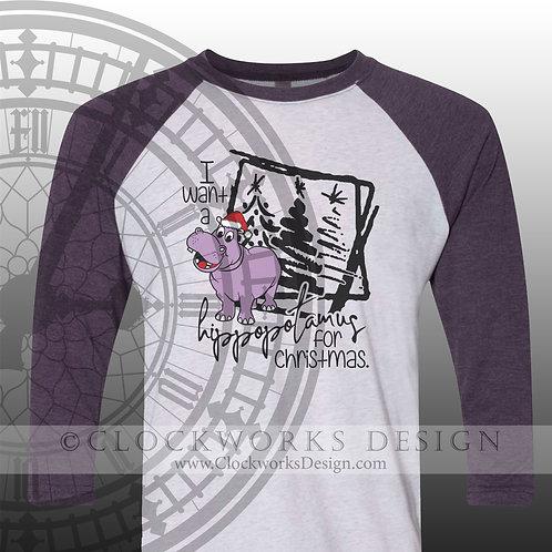 I Can Get I Want A Hippopotamus for Christmas Shirt, Christmas Shirt, Shirt for Women, Shirt for Men, Hippo, Hippo Shirt