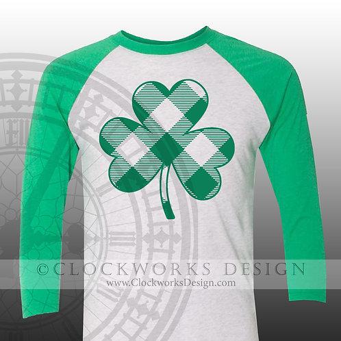 St Patricks Day Shirt, Buffalo Plaid Shamrock, womens, shirt with sayings, saint