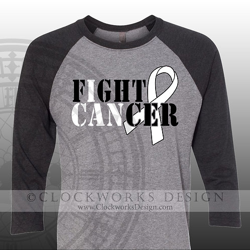 Lung Cancer Shirt, I can Fight Cancer, Cancer ribbon,Shirts for women,men