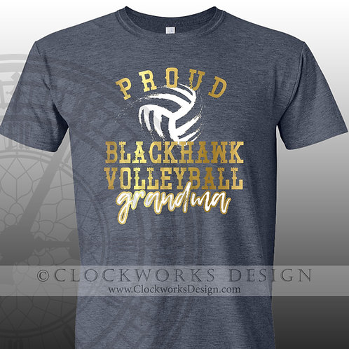Personalized team,Proud Blackhawk Volleyball grandma, grandpa, mom,dad,sister,