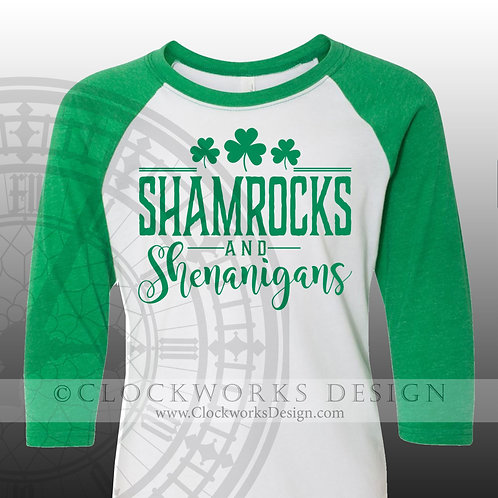 St Patricks Day Shirt,Shamrocks and Shenanigans, drinking, party,shamrock, women