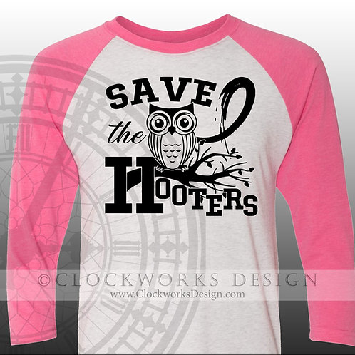 Breast Cancer Awareness,Save the Hooters,shirt,shirts with sayings, graphic tees