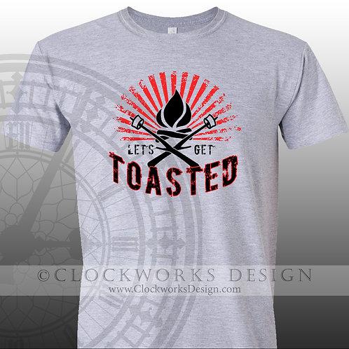 Lets Get Toasted,camping bonfire shirt,shirts,shirts-with-sayings,lake,ocean