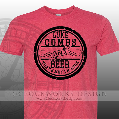 Luke Combs and Beer,shirt,shirts with sayings,Luke Combs,concert,country music