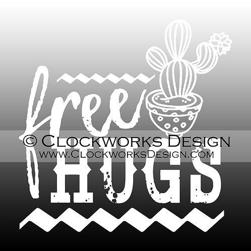 Decal,Free-Hugs,-Cactus,-funny,-sarcastic,-car,-laptop,-window,custom-design