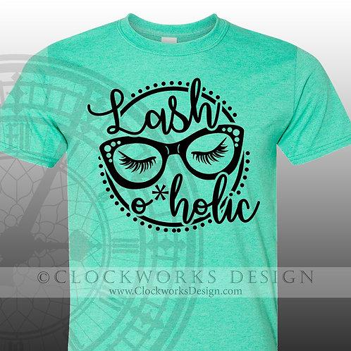 Lash-O-Holic,Shirt,shirts-with-sayings,shirt-for-women,makeup,beauty,salon
