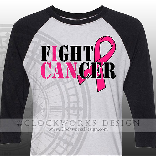 Breast Cancer Shirt, I can Fight Cancer, Cancer ribbon,Shirts for women