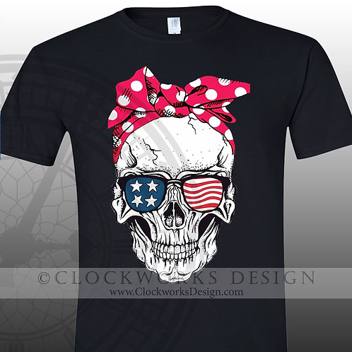 American-Skull,Shirt,shirts,Independence-day,patriotic,usa,united-states