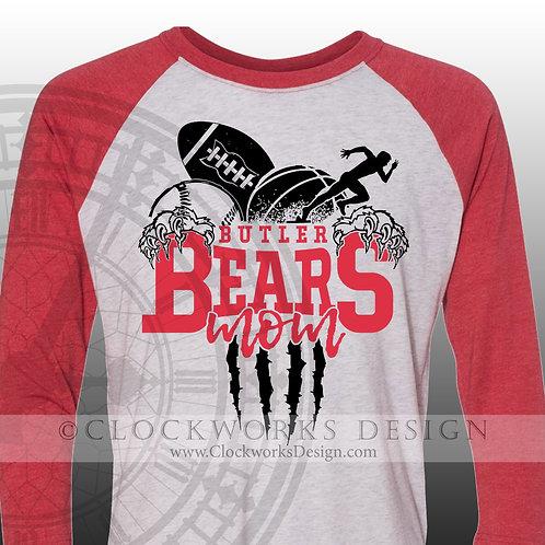 Personalized sports,Buler Bears mom,football,baskeballmbasketball track,shirt