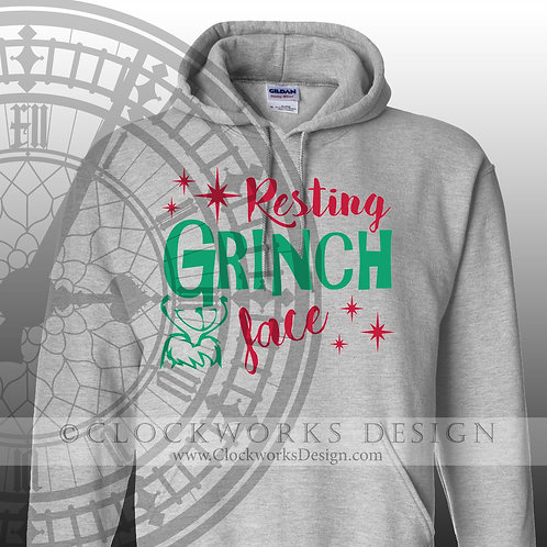 Resting Grinch Face Shirt, Christmas Shirt, Shirt for Women, Shirt for Men, Grinch