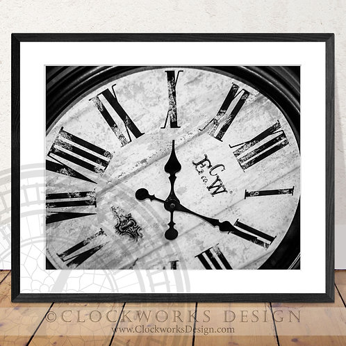 Clock Face | Photography ,clock face, antique, vintage, print, home decor
