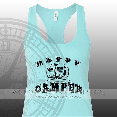 Happy Camper,shirt,shirts-with-sayings,camping,shirt-for-men,shirts-for-women