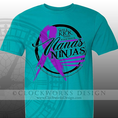 Nana's Ninjas Cancer Fight Shirts