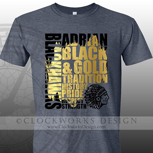Tradition Adrian Blackhawk Tradition Pride Respect,team spirit,personalized