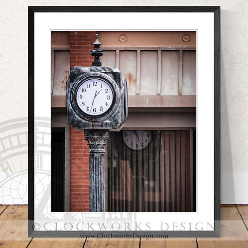 Refection of Time | Photography,old clock, antique, vintage, print,farm house