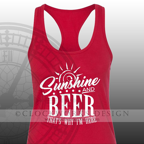 Sunshine and-Beer thats Why Im Here,shirt,shirts with sayings,lake, vacation