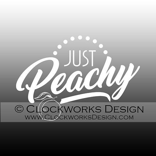 Decal,Just-Peachy,-happy,-funny,-sarcastic,-car,-laptop,-window,-custom-design
